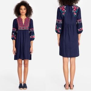 Johnny Was Annaliese NWT Linen Embroidered Dress M